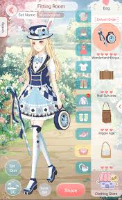 dress up diary mobile game