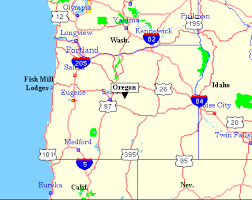 map of highway 395 oregon fish mill lodges driving directions