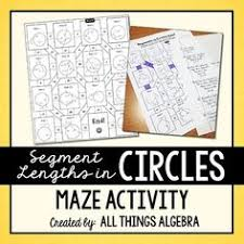 Segment Lengths In Circles Worksheet Answers Segment Lengths In Circles Puzzle Activities Geometry And