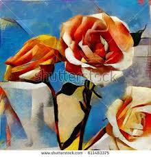 cubism flower painting cubism stock images royalty free images vectors