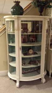 curved glass china cabinet antique curved glass painted curio french and fabulous for sale