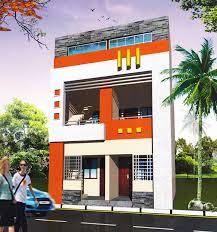 Row Houses Elevation - real estate developer land developer plots at indore plots