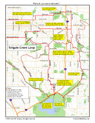 Colorado County Map by Cherry Creek Trail Coloradobikemaps