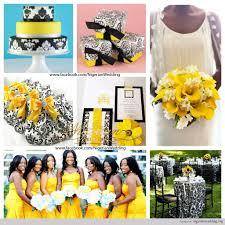 yellow and white weddings yellow black and white wedding damask