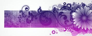 purple flower purple flower banner lightheaded beds
