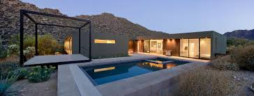 Desert Home Plans Levin Residence By Ibarra Rosano Design Architects