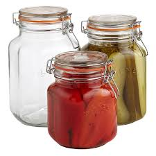 storage jars hermetic glass storage jars the container store set of kilner square hermetic glass