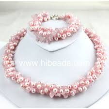 pink pearl gold necklace images Pink pearl jewelry set pearl jewelry 88 0049 buy pearl jewely jpg