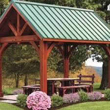 Pergola Roofing Ideas by Beauteous Pergola With Metal Roof Crafts Home
