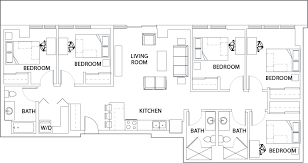 bath floor plans floor plans 922 place student housing tempe az