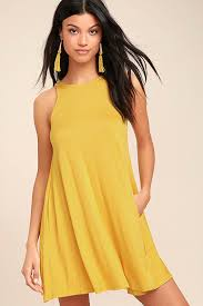 yellow dress chic yellow dress sleeveless dress trapeze dress 38 00