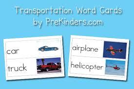 free worksheets pre k transportation theme free math