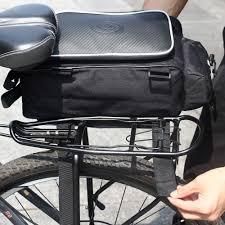 mtb waterproof roswheel 10l waterproof bike rack bag bicycle rear carrier bag