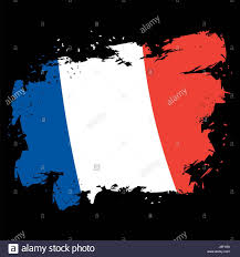 French Flag Pictures France Flag Grunge Style Brush Strokes And Ink Splatter National