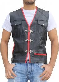 leather motorcycle vest leather motorcycle vest leathervest bikervest black red