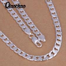 fashion jewelry chain necklace images Fashion jewelry sterling silver jewelry 6mm flat side link chains jpg
