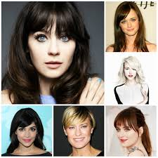 medium length hairstyles for heart shaped faces 2017 the right bang haircuts for your face shape new haircuts to
