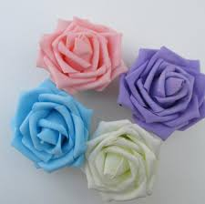 direct pe foam flower head bouquet bouquets roses artificial