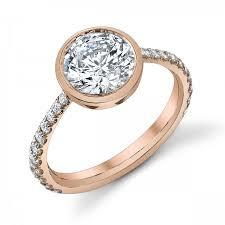 bezel set engagement rings crafted bezel set diamond engagement ring setting by sareen