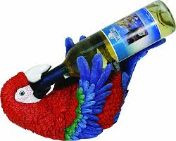 amazon com river u0027s edge hand painted parrot wine bottle holder