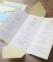 tri fold wedding program wonderful tri fold wedding invitations theruntime