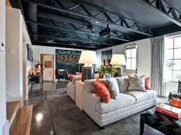 Affordable Basement Ideas by Good Unfinished Basement Ceiling Ideas Back To Budget Unfinished