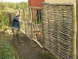 fencing and trellis roundwood craft