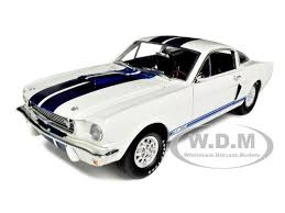 white mustang blue stripes 1966 hobbies shelby mustang gt 350 white with blue stripes 118 by