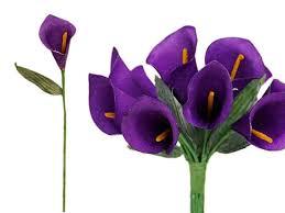Purple Lily Flower Ya Ya 60 Single Stem Mini Calla Lily Life Size