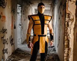 Mortal Kombat Scorpion Halloween Costume Smoke Cosplay Costume Ultimate Mortal Kombat 3
