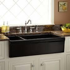 black farmhouse kitchen sink granite composite clamps stone