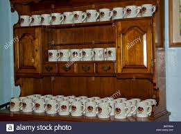 souvenir porcelain coffee mugs for sale on big wooden hutch lea u0027s