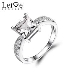 topaz engagement ring leige jewelry white topaz engagement ring princess cut white