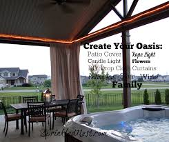 drop cloth outdoor curtains sprinkled nest