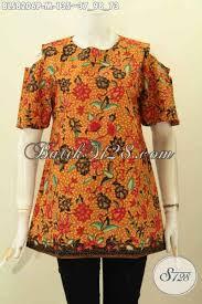desain baju batik untuk acara resmi pakaian batik halus keren bahan adem proses printing busana batik