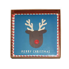 boxed christmas cards reindeer handmade boxed christmas cards 5 peggyoliver