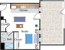 Efficiency Floor Plans by Floor Plans Of Parkway Apartments In Washington Dc