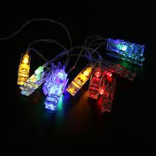 amber mini led christmas lights 1m 10 led mini clip string lights battery christmas lights new year