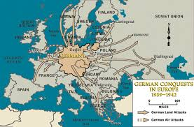 France Germany Map by Wwii European Front German Conquest In Europe 1939 1942 Ww2
