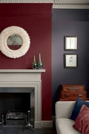 this combination of berry walls a putty ceiling and burgundy