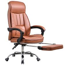 Reclining Office Chair With Footrest Big Tall Deluxe Reclining Office Chair With Footrest Stool Swivel