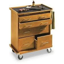 Rolling Storage Cabinet 6 Drawer Rolling Storage Cabinet Solid Wood Finish Felt Lined