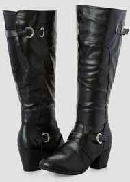 womens wide motorcycle boots chunky heel tall boot wide width women u0027s shoes ashley stewart