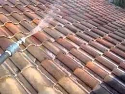 Barrel Tile Roof Chemically Cleaning A Clay Barrel Tile Roof Maitland Fl Youtube