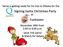 signing santa christmas party in ottawa canadian hearing society