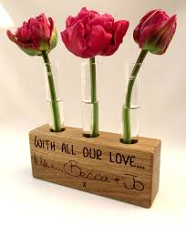 Vase Holders Personalised Test Tube Plant Stand By Buywoodengifts Test Tubes