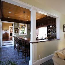 half walls in kitchens half wall trim ideas kitchen revamp but