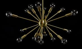 Brushed Brass Light Fixtures by Brushed Brass Sputnik Chandelier 23 Inches In Diameter With 18 Arms