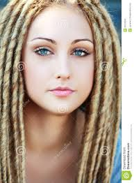 fashion hairstyle with dreads stock photography image 32579342