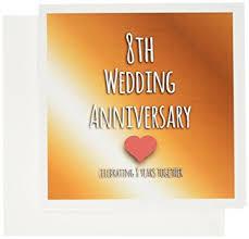 eighth anniversary gift 3drose 8th wedding anniversary gift bronze